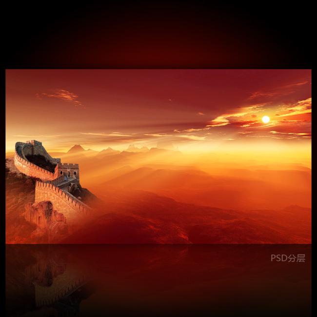 展板背景日出高清风景图片