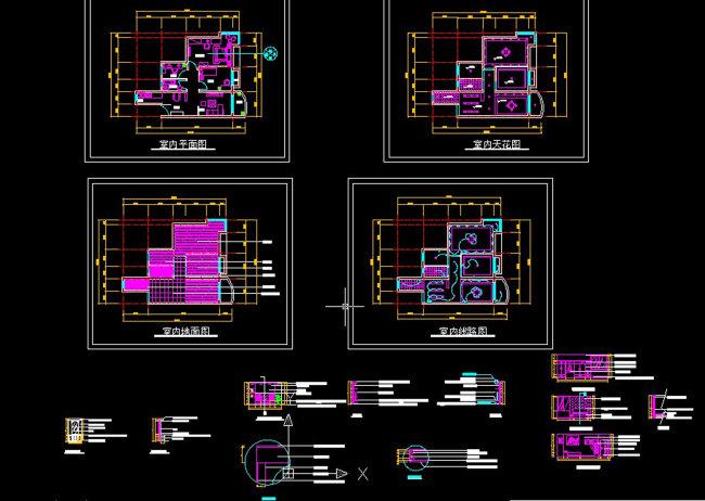 小户型装修CAD图纸