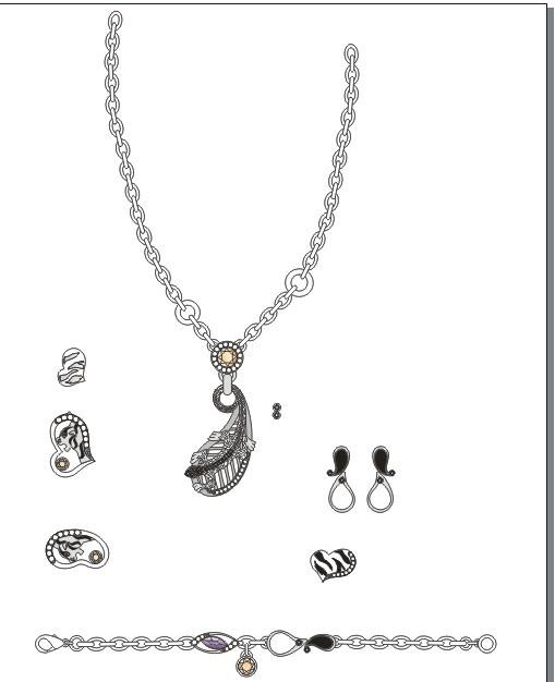 【cdr】珠宝 首饰 设计 吊坠 项链 戒指 耳环