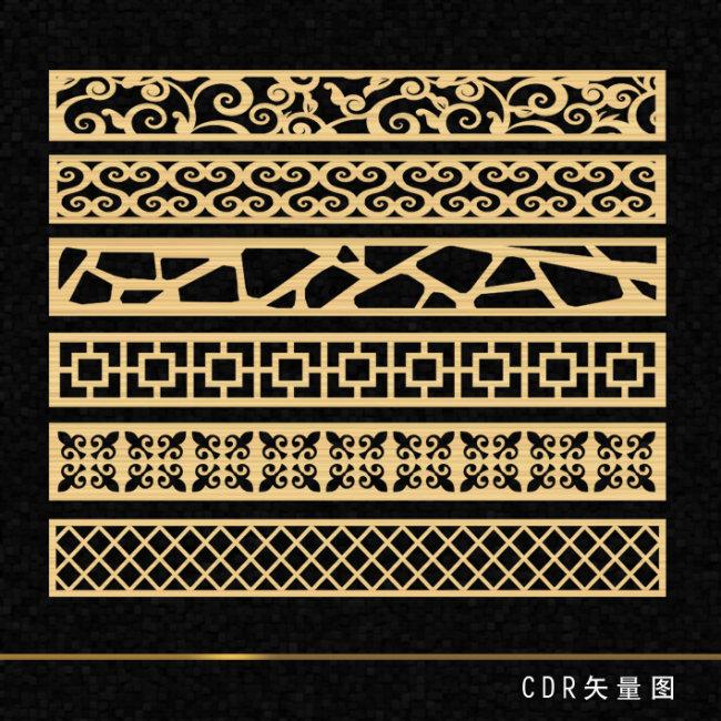 电视墙 背景墙 花形 造型 木艺 花纹 欧式 边框 花纹边框 矢量雕刻 矢