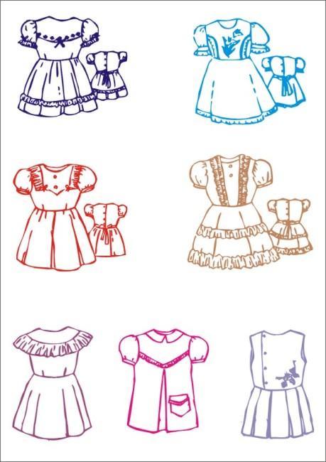 裙子设计 矢量 矢量图 服装设计 服饰设计 春装 夏装 简约时尚 简单