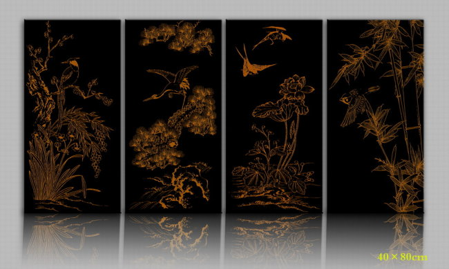 中国传统元素装饰画图片