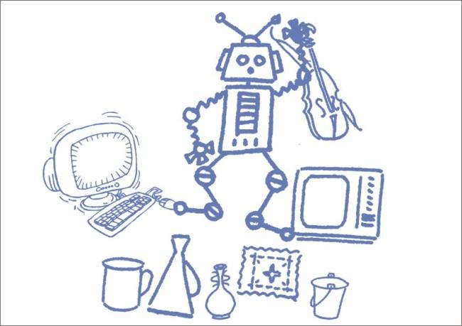 【cdr】电脑机器人-手绘画