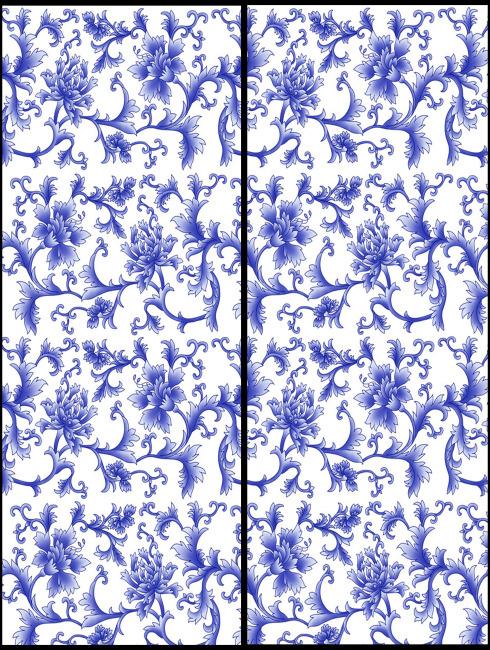 移门 移门图片 移门大全 移门图案 移门图库 移门素材 蓝色花纹 说明