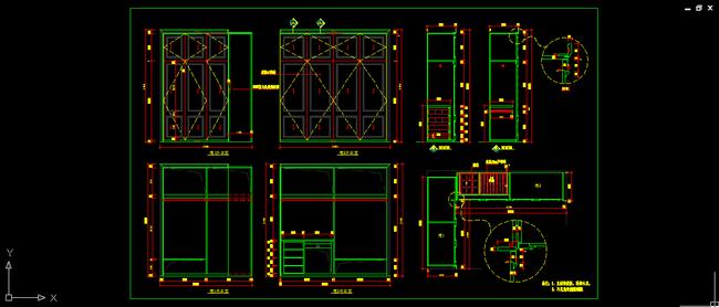 室内设计 木制品家具 衣柜深化图纸