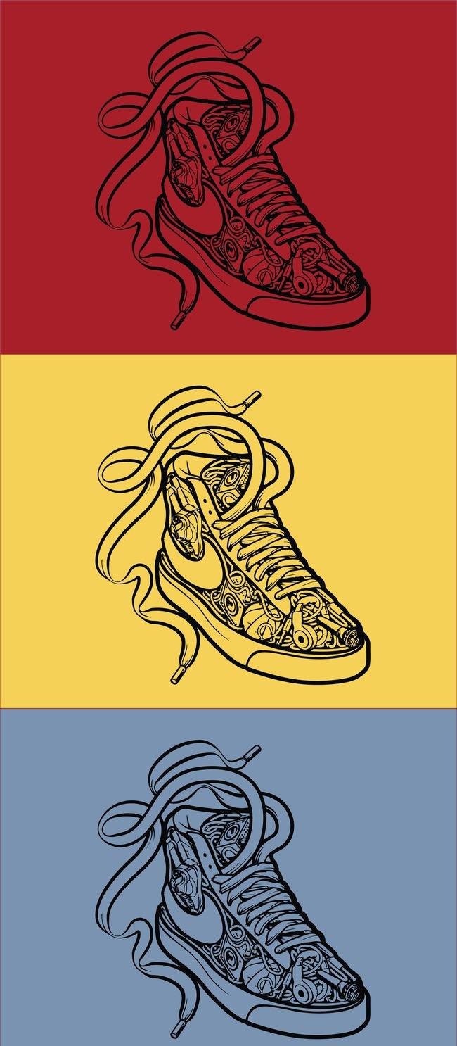 主页 原创专区 插画|素材|元素 卡通形象 > nike运动鞋卡通矢量插画