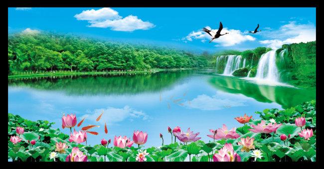 【psd_m】山水风景画