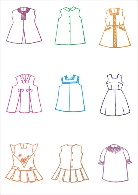 【cdr】女童裙子-服装设计