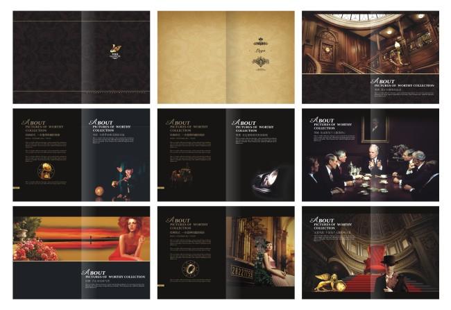 【cdr】精美欧式风格画册模板设计下载