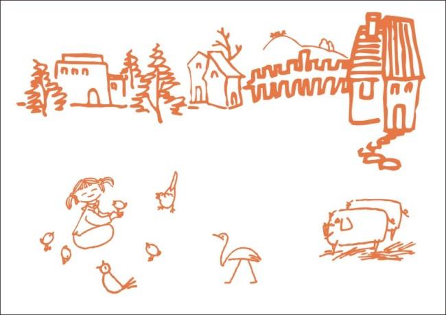 【cdr】农家孩子动物-简笔画