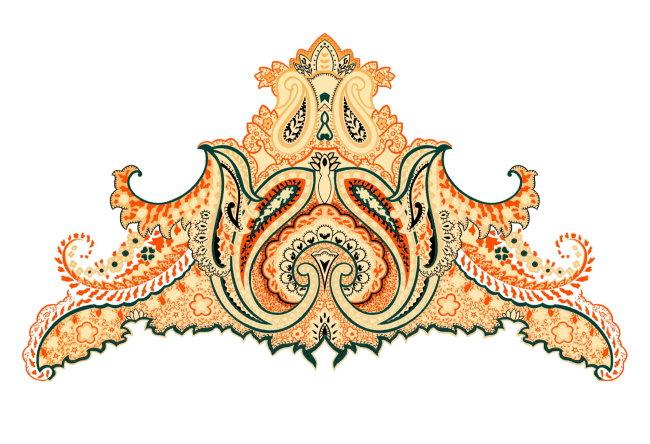 【psd】精美刺绣花纹边纹图案