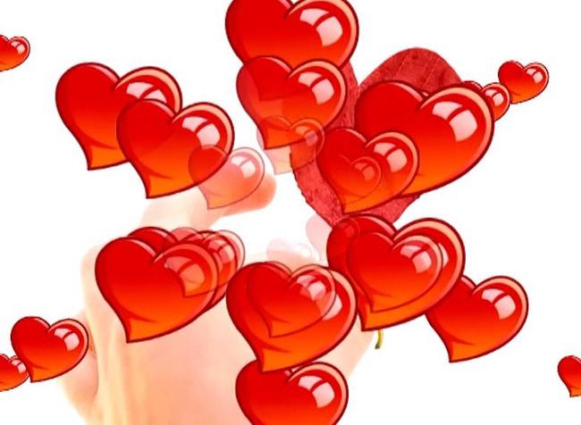 【wmv】唯美婚庆红色心形气球上升视频素材