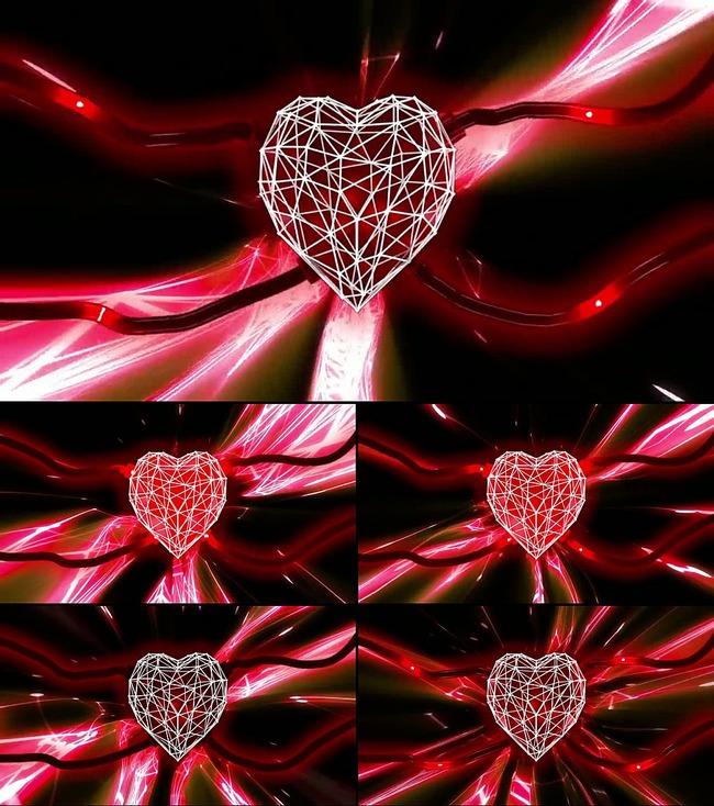 【mov】红色心脏跳动视频素材