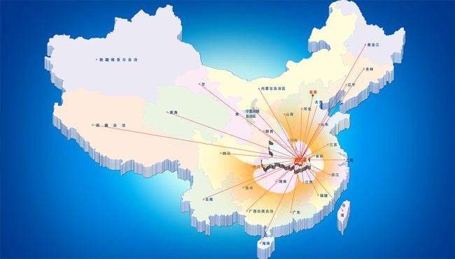 【psd】中国地图psd图片