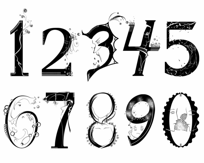 【psd】人物,罗马数字,剪影 0至9