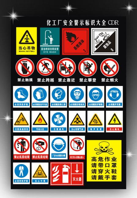 【cdr】化工厂安全警示标志