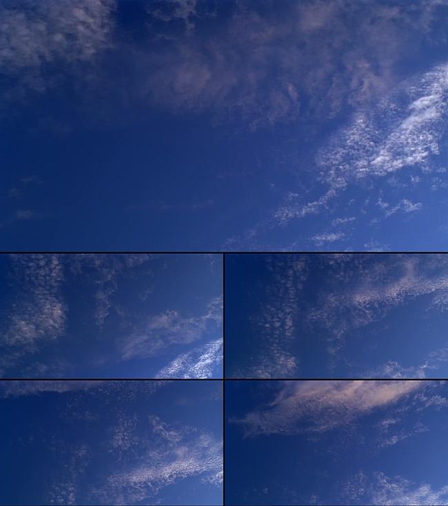 蓝天绿地白云图片白云素材