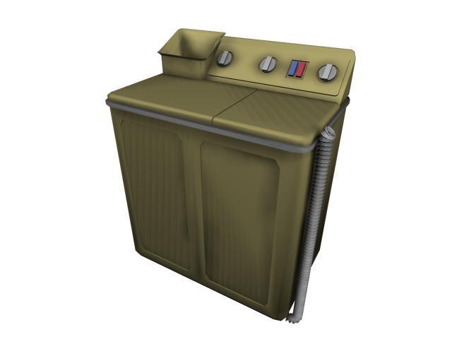 主页 原创专区 3d模型下载|模型库 电器模型 > 老式洗衣机模型  关键