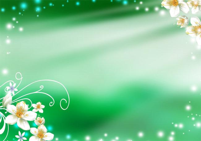 【psd】绿色唯美花纹高清psd背景素材下载_图片编号:_