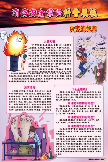 【ai】消防部队防火安全科普教育展板