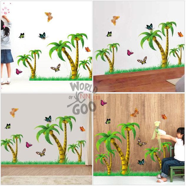 椰树简笔画彩色