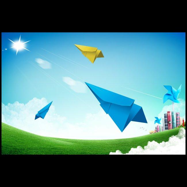设计 说明:放飞 梦想 未来 学习 海报 精美 设计 分享到:qq空间新浪