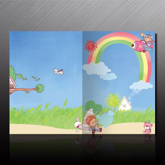 【psd】幼儿园成长手册封面