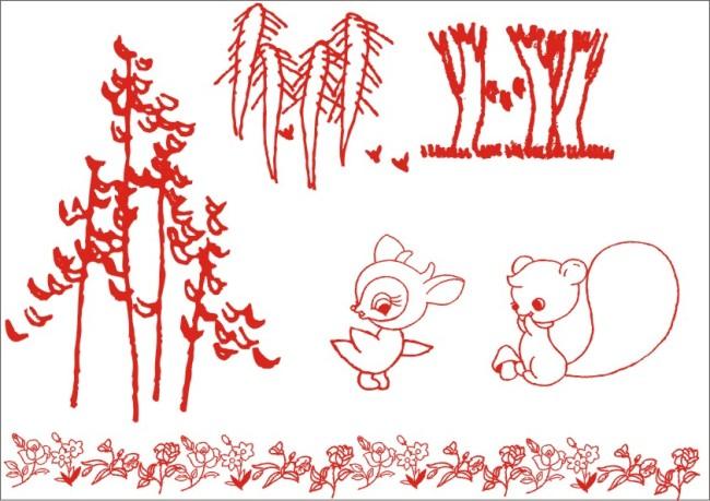 【cdr】森林小松鼠-手绘画