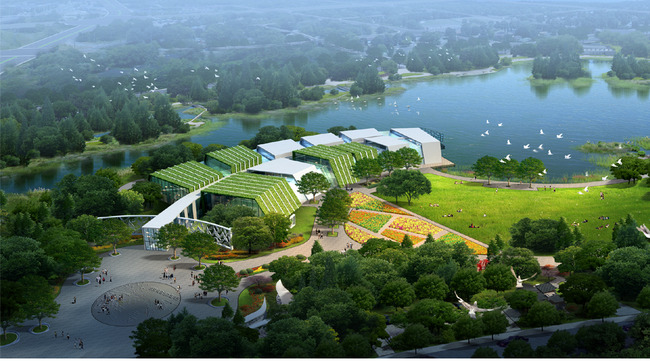 园林设计 > 景区滨水景观园林绿化效果图  关键词: 景区 道路 公园