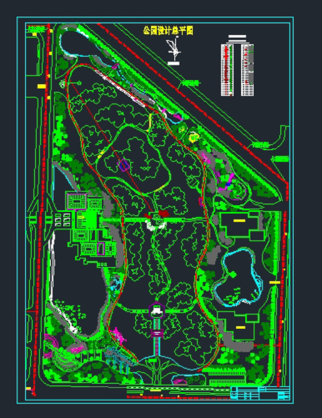 某公园CAD总平面图图片
