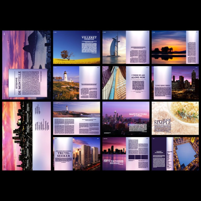 【ai】国外建筑风景精美画册排版版式设计模板