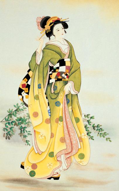 日本美女艺术人nenbi体图_【jpg】日本仕女图 古代美女 仕女图 古典美女
