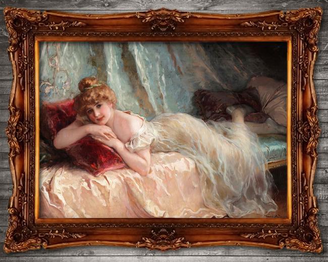 关键词: 古典主义油画 馆藏精品 世界名画 欧洲人物 西方女子 后印象