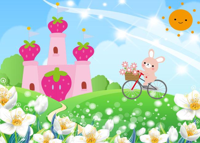 【psd】2011可爱兔子儿童模板_图片编号:wli1111525