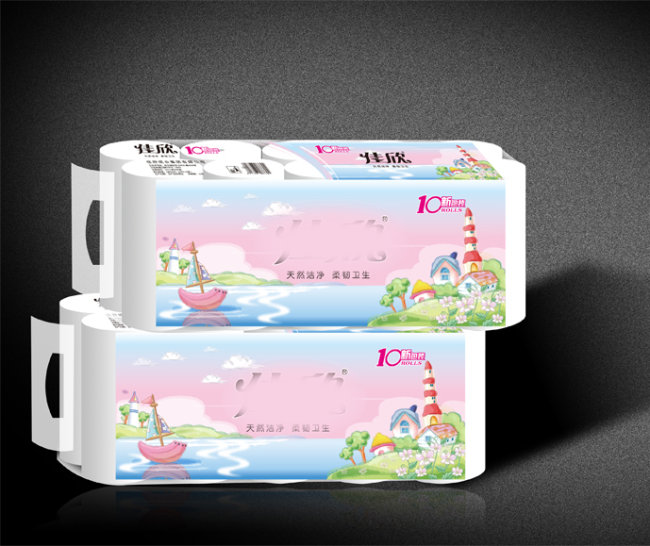 【ai】卫生纸包装设计图图片