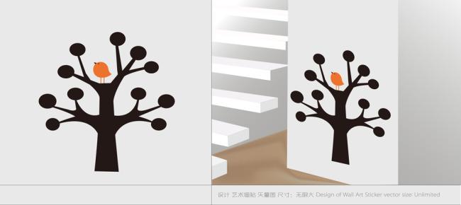 壁纸|墙画壁纸 > 卡通墙贴设计  关键词: 矢量墙贴 室内设计 创意墙贴