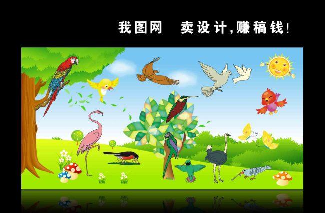 【cdr】幼儿园养殖动物卡通展板