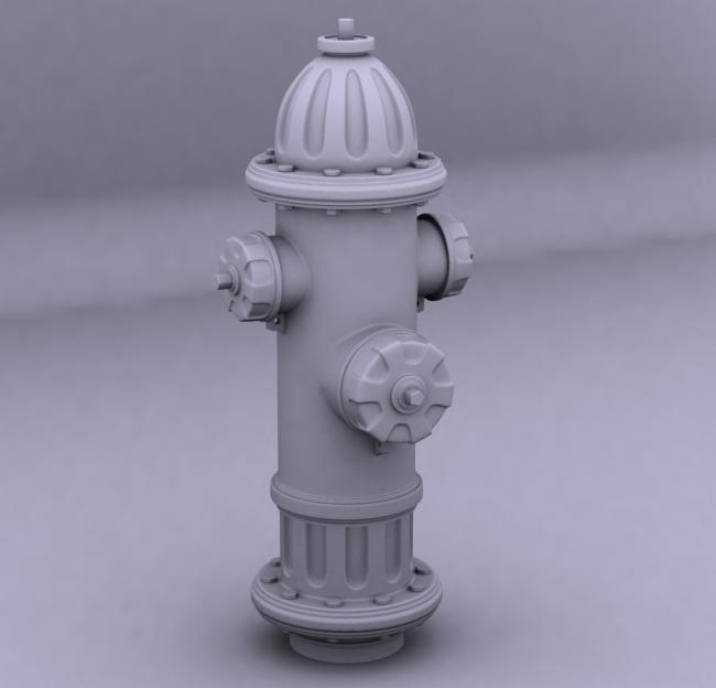 3d 3d素材 场景 场景素材 场景模型 说明:室外模型 消防栓 3dmax源