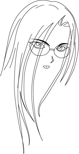 手绘人脸发型图