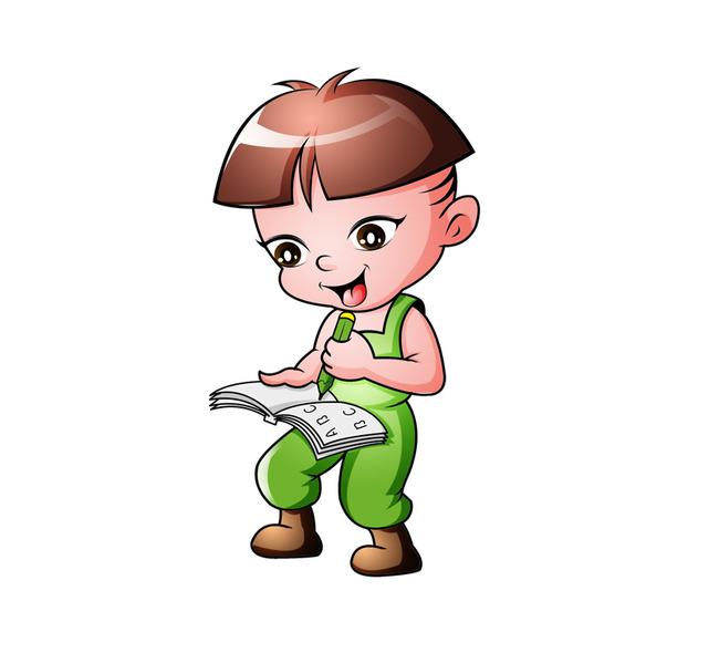 可爱小男孩 小男孩卡通设计