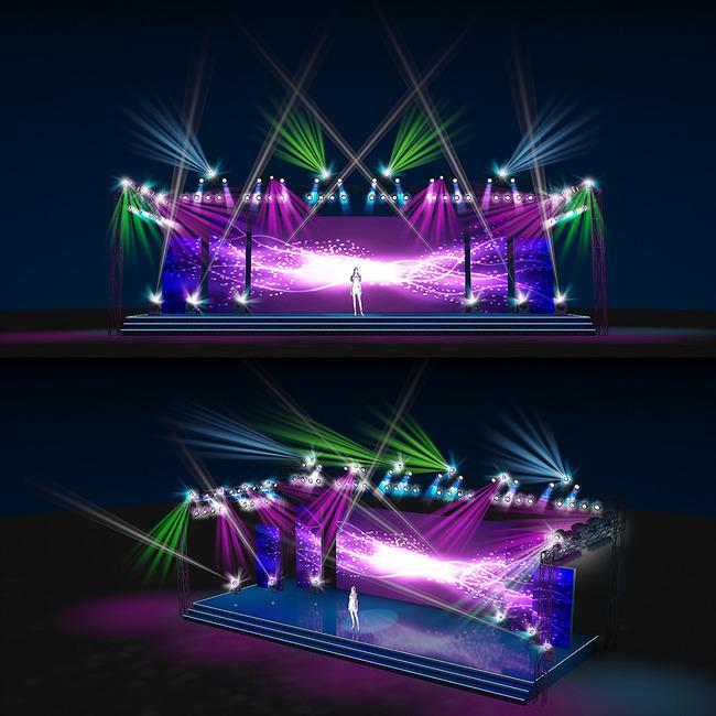 舞台灯光舞美设计效果图