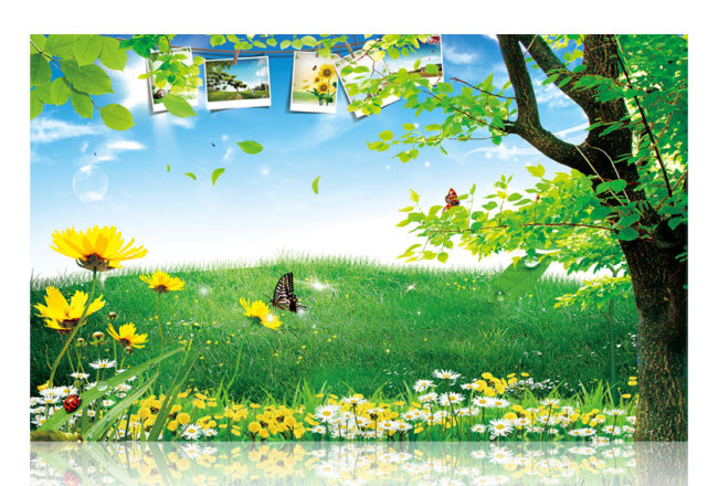 【psd】清新自然风景_图片编号:wli10310472_海报背景