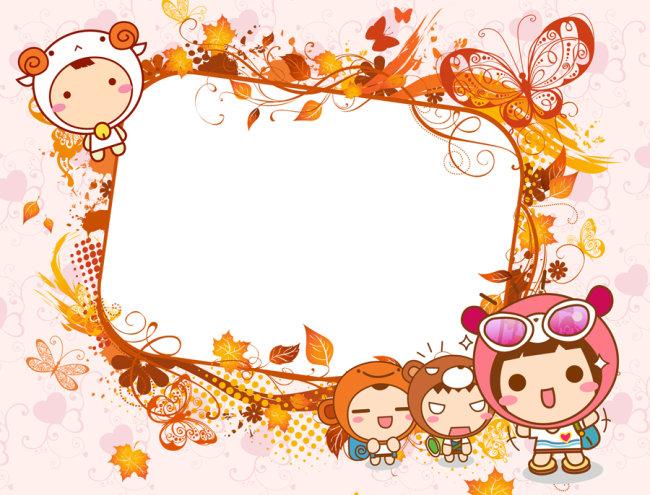 可爱宝宝图片 相框 漂亮宝宝图片 百天留影 宝宝相册模板 baby图片