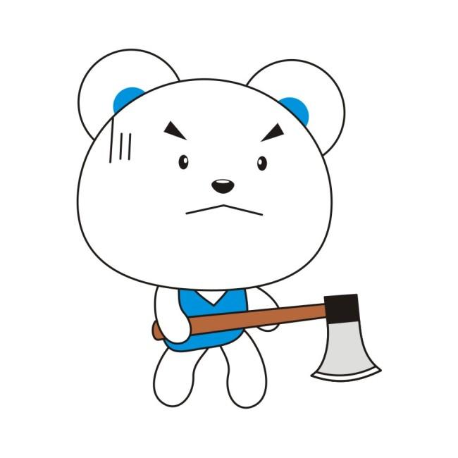 > 可爱笨笨熊  关键词: 小熊 熊 小白熊 白熊 笨笨 呆呆 可爱 可爱