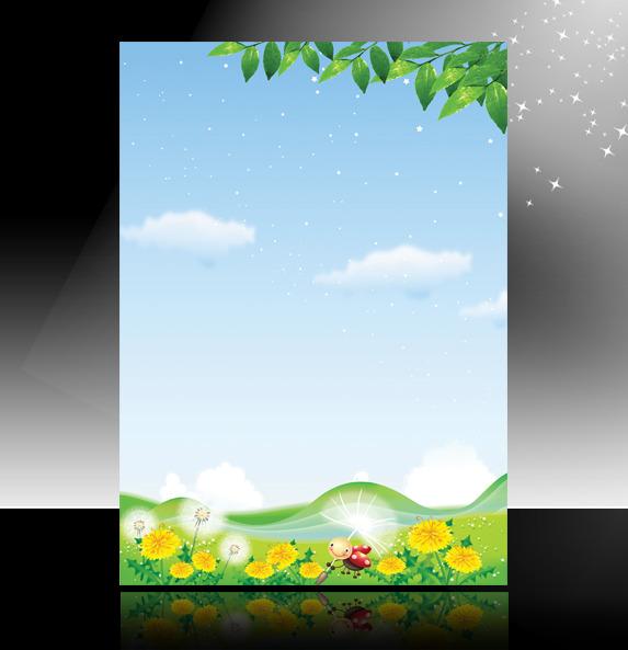 【psd】漂亮简洁展板背景psd模板下载 海报背景