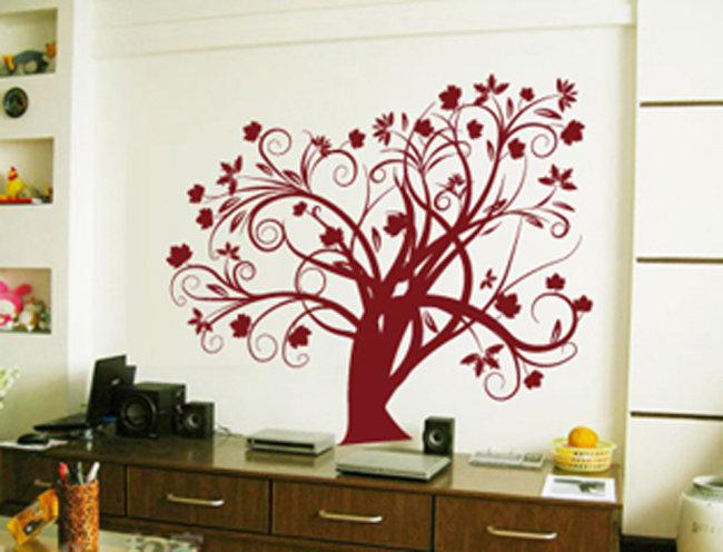 主页 原创专区 室内装饰|无框画|移门 壁纸|墙画壁纸 > 花树墙贴矢量