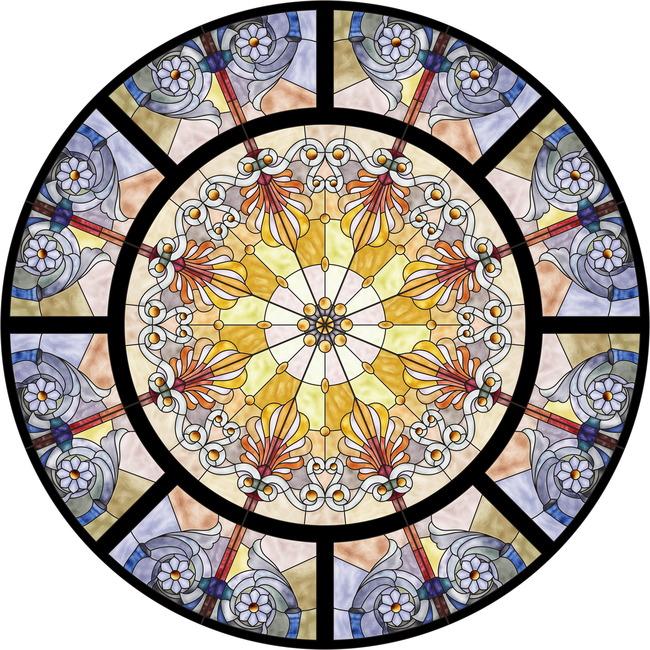 【jpg】教堂玻璃蒂凡尼彩绘玻璃装饰画