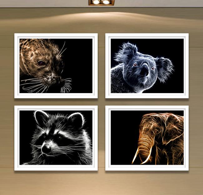 【jpg】高清现代艺术风格动物装饰画