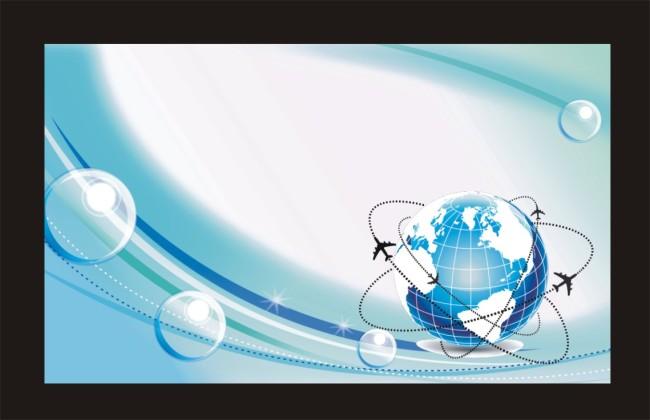 【cdr】蓝色科技地球展板背景