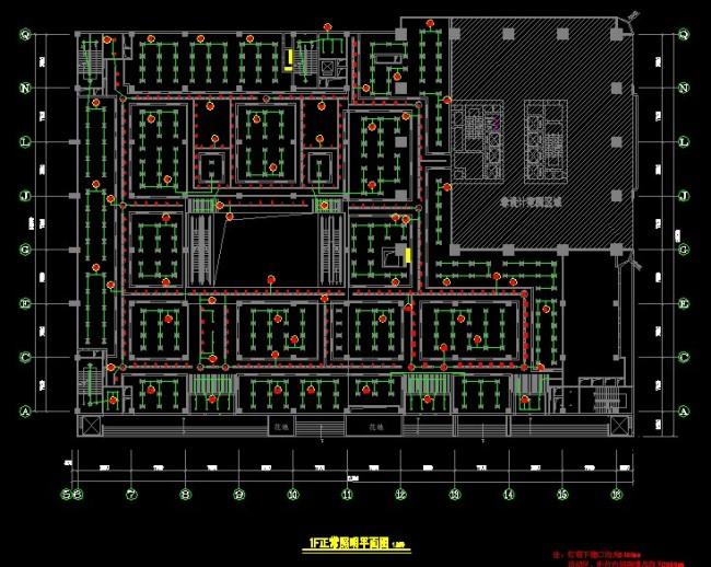 cad图纸 > 某广场电气施工图  关键词: 照明图 电箱插座图 电气图目录